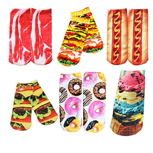 zmart-womens-girls-3d-funny-crazy-novelty-ankle-boat-cotton-socks-set-sox-pairs
