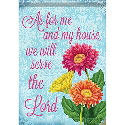 Carson Home Accents FlagTrends 46945 Serve The Lord Classic Outdoor Garden Flag, ()