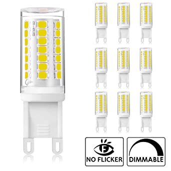 Bombillas LED regulables de 4W G9, equivalentes a bombillas halógenas de 40W, 400LM,