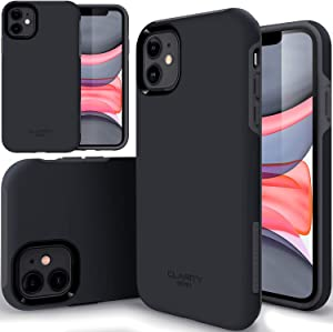 """TEAM LUXURY Case for iPhone 11 6.1 inch, [Clarity Series] Ultra Defender [Shockproof] Hybrid Protective Cover Phone Case for Apple iPhone 11 6.1"""" - Navy Blazer Blue"""