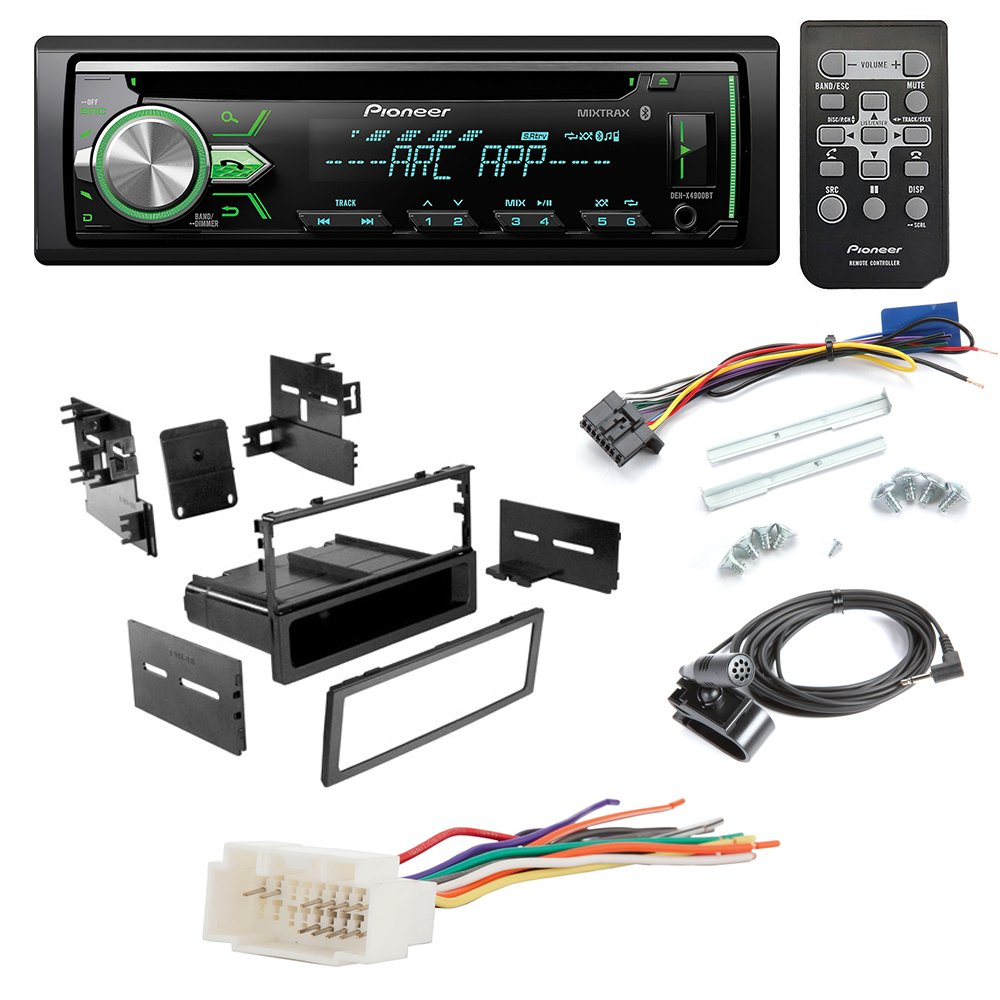 Pioneer Deh X4900bt Aftermarket Car Radio Receiver 1000 Wiring Diagram Stereo Cd Player Dash Install Mounting Kit Wire Harness