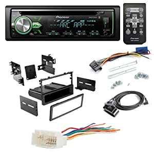 pioneer deh x4900bt aftermarket car radio receiver stereo cd player dash install mounting kit