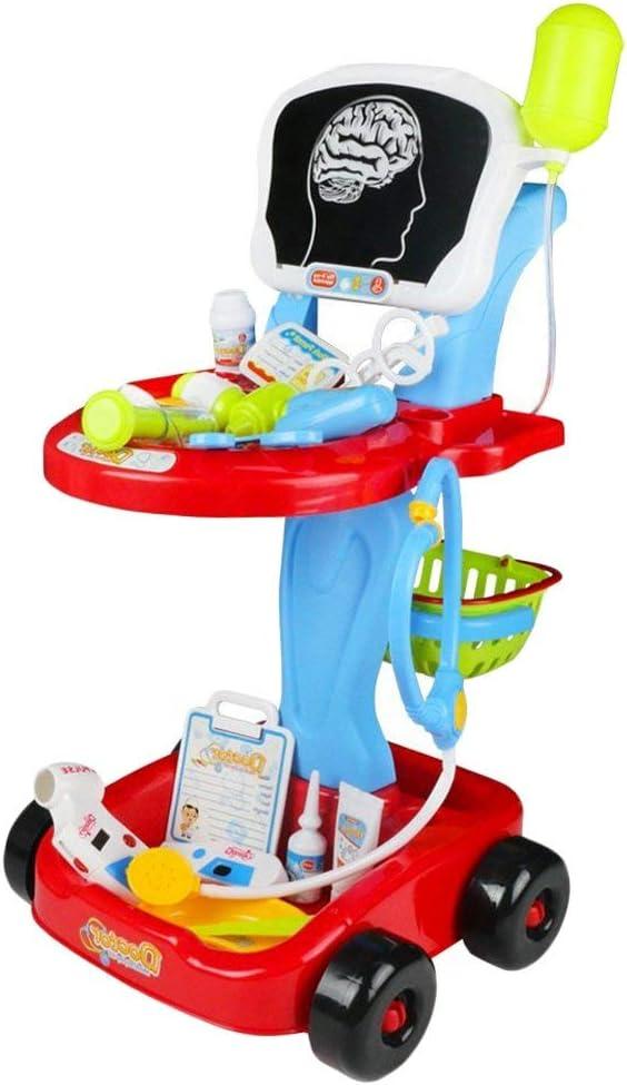 Fajiabao Juegos Niños 3 Años - Carro Medico Juguete - Médico Kit MaletinMedicos de Set Médicos Juguete Juego de rol 24 Piezas Accesorios para Niños y Niñas por 4 5 6