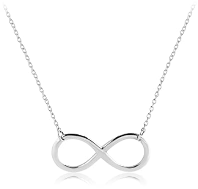 c45aed0adf9e4 Amazon.com  blackbox Jewelry 925 Sterling Silver Infinity Necklace ...