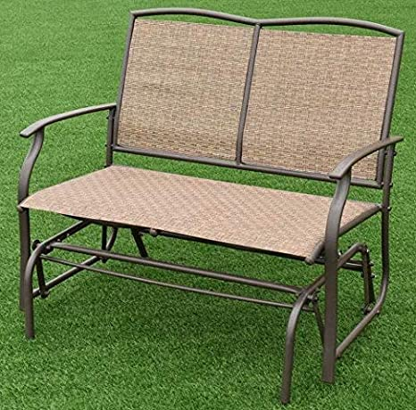 Superb Amazon Com Kloudshopping Outdoor Glider Swing Chair Patio Andrewgaddart Wooden Chair Designs For Living Room Andrewgaddartcom