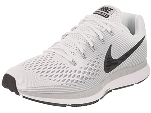 63364621b30e Nike Men s Air Zoom Pegasus 34 White Anthracite Pure Platinum Running Shoe  8 Men US