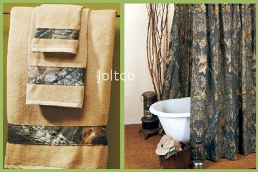 Amazon.com: Licensed Mossy Oak New Breakup Camo Shower Curtain ...