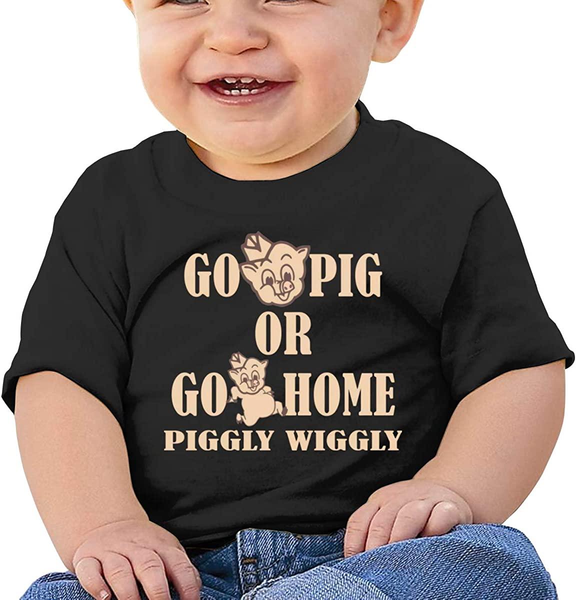 Funny Go Pig Or Go Home Piggly Wiggly Comfortable Baby T-Shirt