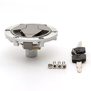 PROCNC Ignition Switch Gas Cap Seat Lock Keys Set for Kawasaki Ninja 250 2005-2012 Ninja 300 2013-2014