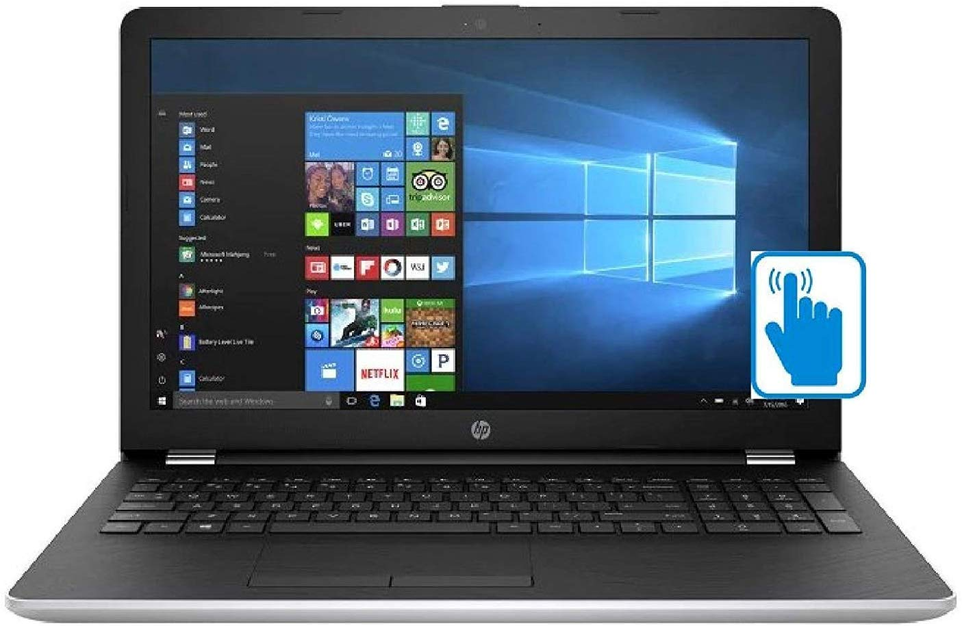 Newest HP 15.6 inch HD Touchscreen Flagship Premium Laptop PC, Intel Core i5-7200U Dual-Core, 8GB RAM, 2TB HDD, Bluetooth, WiFi, Stereo Speakers, Windows 10 Home