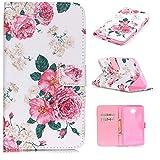Nexus 6 Case,Google Nexus 6 Case,Motorola Nexus X Case,XYX [Pink Flowers][Kickstand][Wallet][Card Slot] Premium Protective Case for Motorola Nexus 6