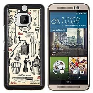 Dragon Case - FOR HTC One M9+ / M9 PLUS - ?unhappy to say goodbye - Caja protectora de pl??stico duro de la cubierta Dise?¡Ào Slim Fit