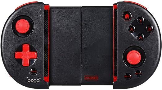 Negaor PG-9087SワイヤレスコンソールBTゲームパッドコントローラー携帯電話PCスマートテレビタブレット用の拡張可能な格納式モバイルトリガージョイステッカーゲームコントローラー