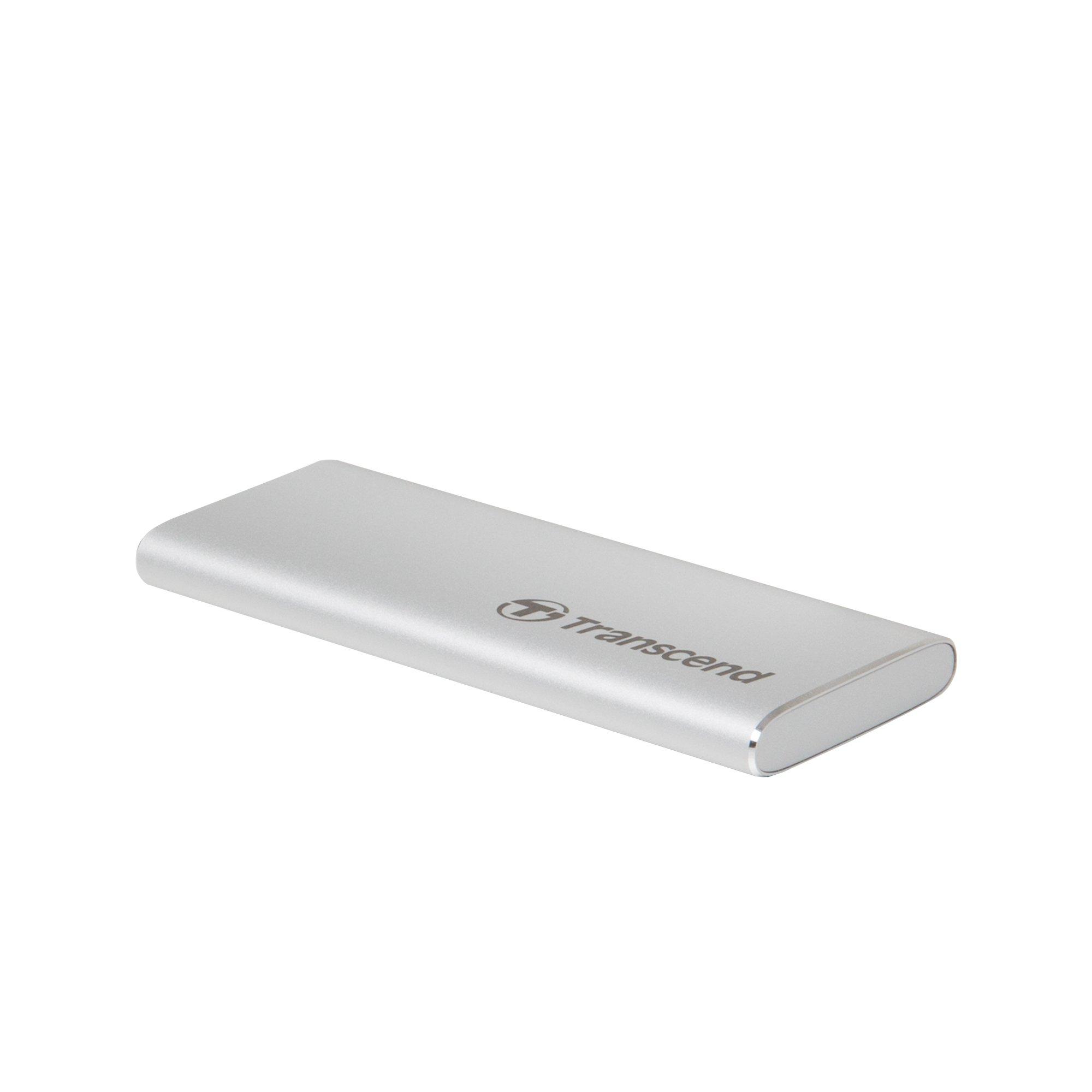 Transcend Information 240GB Portable SSD TLC USD 3.1 Gen 2, Silver (TS240GESD240C) by Transcend (Image #2)