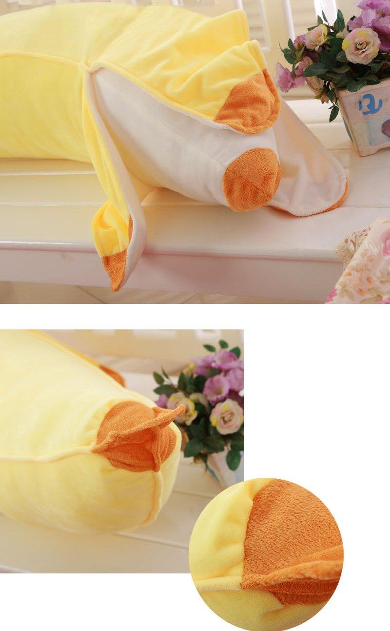 STNCEL Creative Soft Peeled Banana Plush Stuffed Pillow Cushion Doll Toy Gift 100cm