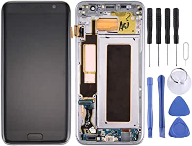 Galaxy Spare Parts .for Galaxy S7 Edge / G935A LCD Screen and Digitizer Full Assembly with Frame & Charging Port Board & Volume Button & Power Button(Black) (Color : Gold)