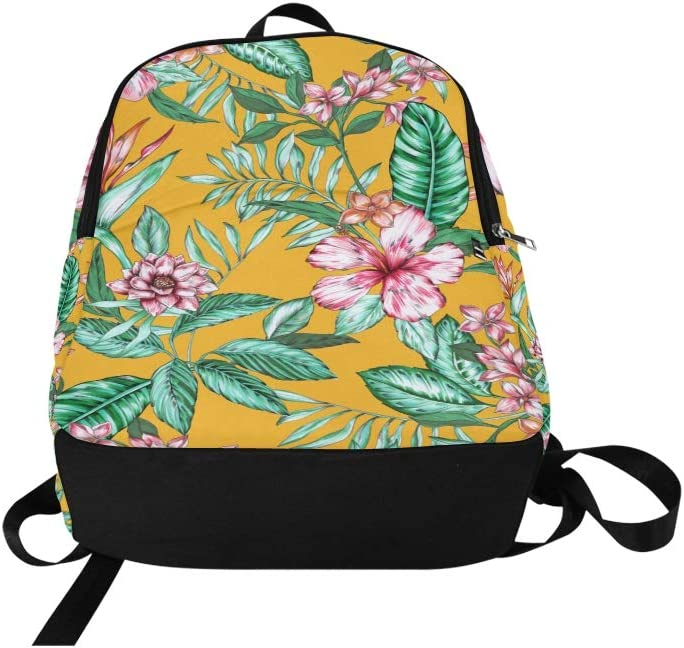 Sport Bags for Kids Colorful Retro Green Leaves Flower Durable Water Resistant Classic XL Backpack Sports Equipment Bag Makeup Bag Travel Mens Bags College