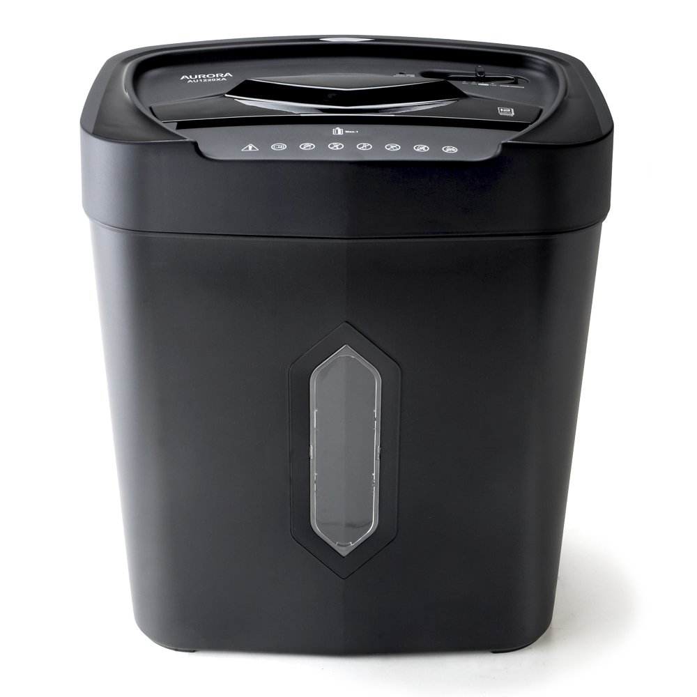 Aurora Professional 12-Sheet Crosscut Paper/Credit Card Shredder with overheat Protection, Fast Shred Speed