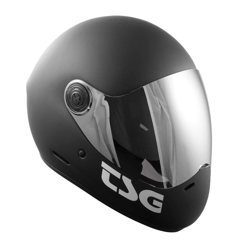 TSG - Pass Solid Color (+ Bonus Visor) - Helmet for Skateboard (Matt Black, M)