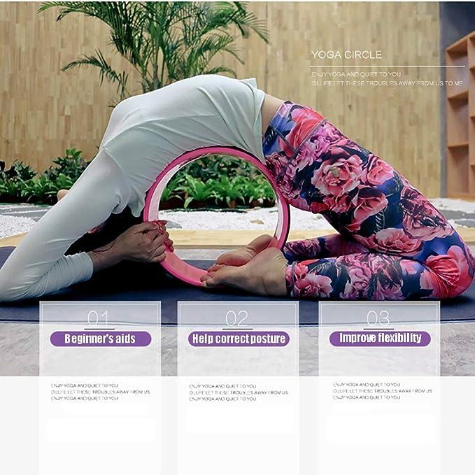 33cm Yoga Wheel Backbends Stretch Roller Flexibility Back Workout Pilates