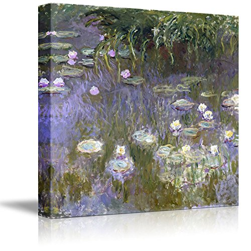 Water Lilies by Claude Monet Print Famous Painting Reproduction