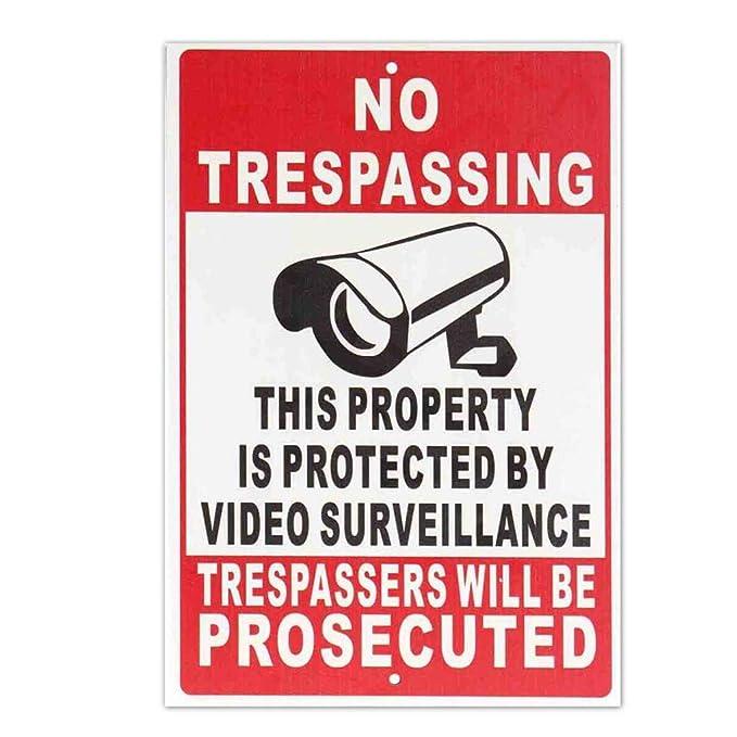 Propiedad Prohibida Protegida por Video Vigilancia Cámara de ...