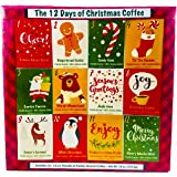 Christmas Sampler Gift 12 Days of Coffees Christmas Gourmet Gift Box Set Flavored Coffee- Best Xmas Present For Friends…
