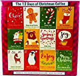 Christmas Sampler Gift 12 Days of Coffees, Teas or Cocoas (Hot Chocolate) for Christmas Gourmet Gift Box Set - Best Xmas Present For Friends, Family, Corporate, Coworkers, or Teachers (Coffee)