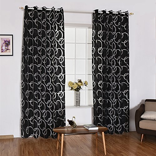 litymitzromq Beautiful Window Curtains Panels Valance, Fashion Circle Bubbles Window Curtain Sheer Divider Home Bedroom Window Decor Elegance Curtains for Living Room, Bedroom & Bathroom