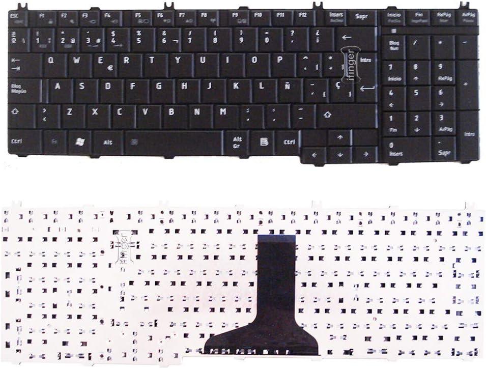 IFINGER Teclado para Toshiba PK130742A19 MP-08H76E06698 NSK-THK0S ESPA/ÑOL Brillo