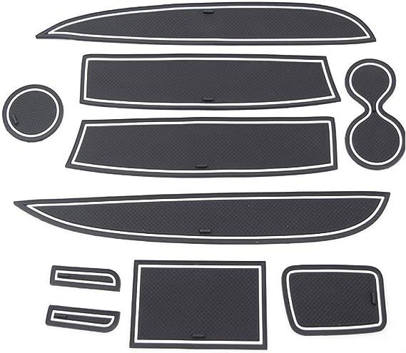 Lfotpp Clio 4 Gummimatten Gummi Matten Antirutschmatten Für Getränkehalter Mittelkonsole Armlehne Türschlitz 10 Stücke Weiß Auto