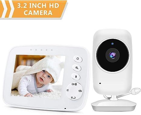 2-way Talk Audio2.4GHz Digital LCD Color Baby Monitor Video Night Vision Camera