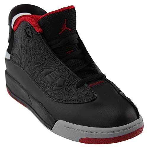 e0ae5043c71 Nike Jordan Dub Zero Black Gym Red-Wolf Grey-White (Little Kid) (3Y)  Buy  Online at Low Prices in India - Amazon.in