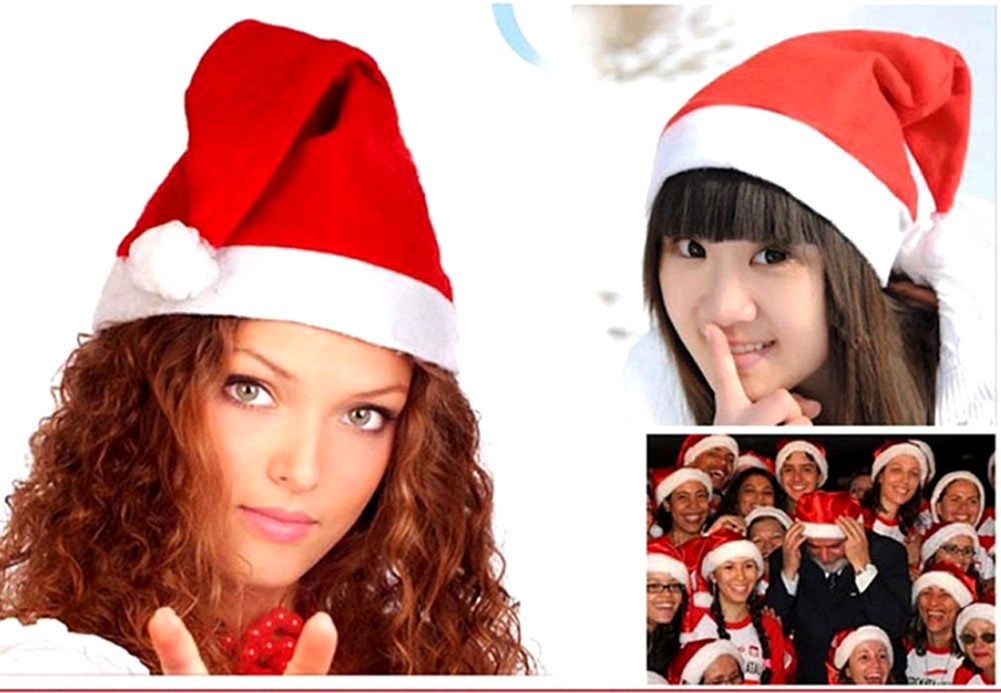 12pcs Christmas Santa Hat,Economical Traditional Red/&White Xmas Santa Claus Cap for Holiday Party HuanX35 Upgraded the Size/&Material in 2018 Upgraded the Size/&Material in 2018 Economical Traditional Red/&White Xmas Santa Claus/' Cap for Holiday Party