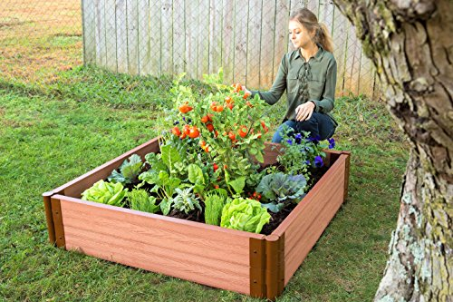 Frame It All Composite Raised Garden Bed Kit, 4' by 4' by 11'' by Frame It All (Image #1)