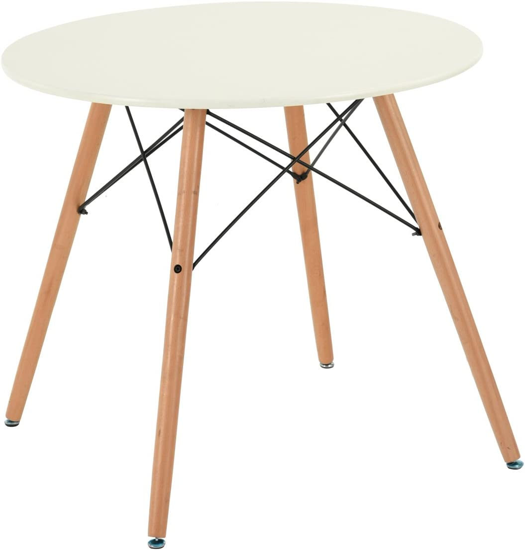 Fitathome Fit Home Round Table 80 Cm White Mdf Solid Wood Scandinavian Design Dining Room Kitchen Amazon Co Uk Kitchen Home