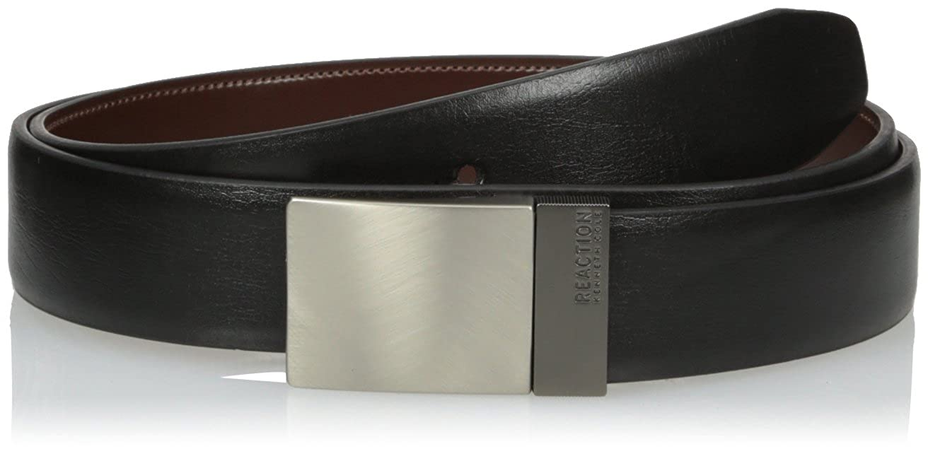 Kenneth Cole REACTION Men's Reversible Plaque Buckle Belt 08-7923-12