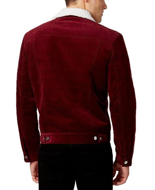 06e700e4f50a WHT SPACE by Shaun White Men's Corduroy Jacket with Fleece Trim at Amazon  Men's Clothing store: