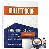 French Kick Single-Serve Pods, Dark Roast, 24 Count, Bulletproof Keto Friendly, 100% Arabica Coffee, Certified Clean Coffee,