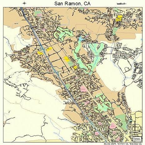 San Ramon Ca Map on