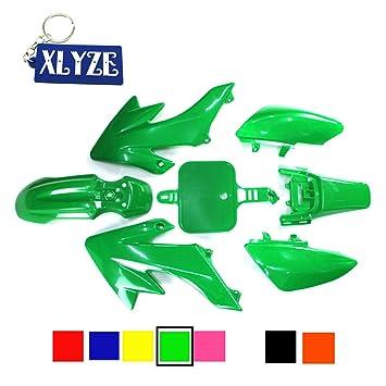 XLYZE Black Fairing Plastic Fender Kit for Piranha CRF50 XR50 50cc 70cc 90cc 110cc 125cc 140cc 150cc 160cc Dirt Pit Bike SDG SSR