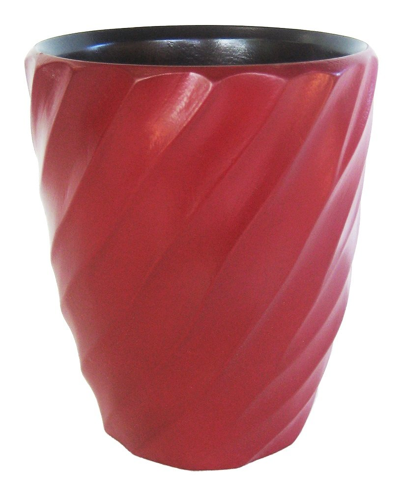 Enrico 3140MS1080 Mango Wood Spiral Utensil Vase, Chili Pepper