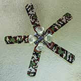 Fancy Blade Ceiling Fan Accesories Blade Cover Decoration, Camo Small