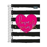 Tilibra 152251 Agenda 2019, 12 Meses, Planeador Diario, Colección Love Pink, 11.5 x 16.5 cm