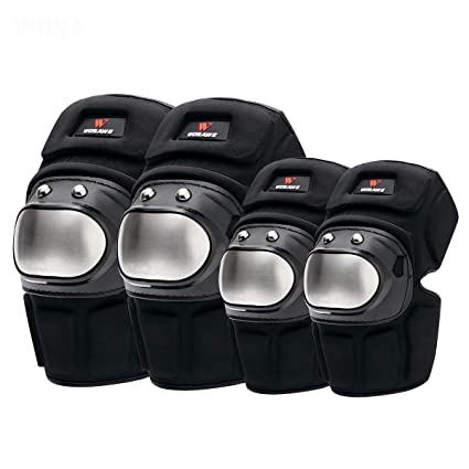 Knee /& Elbow Motorcycle Protector Cycling Protective Leg Knee Pads Gear