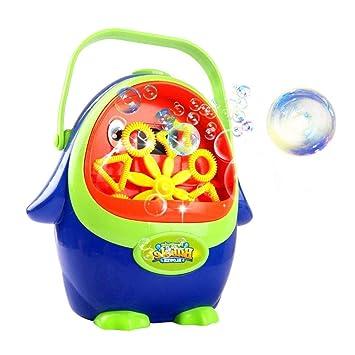 Qwhome Máquina De Burbujas para Niños, Máquina De Soplado De Burbujas Portátil Pingüino Automático Fabricante