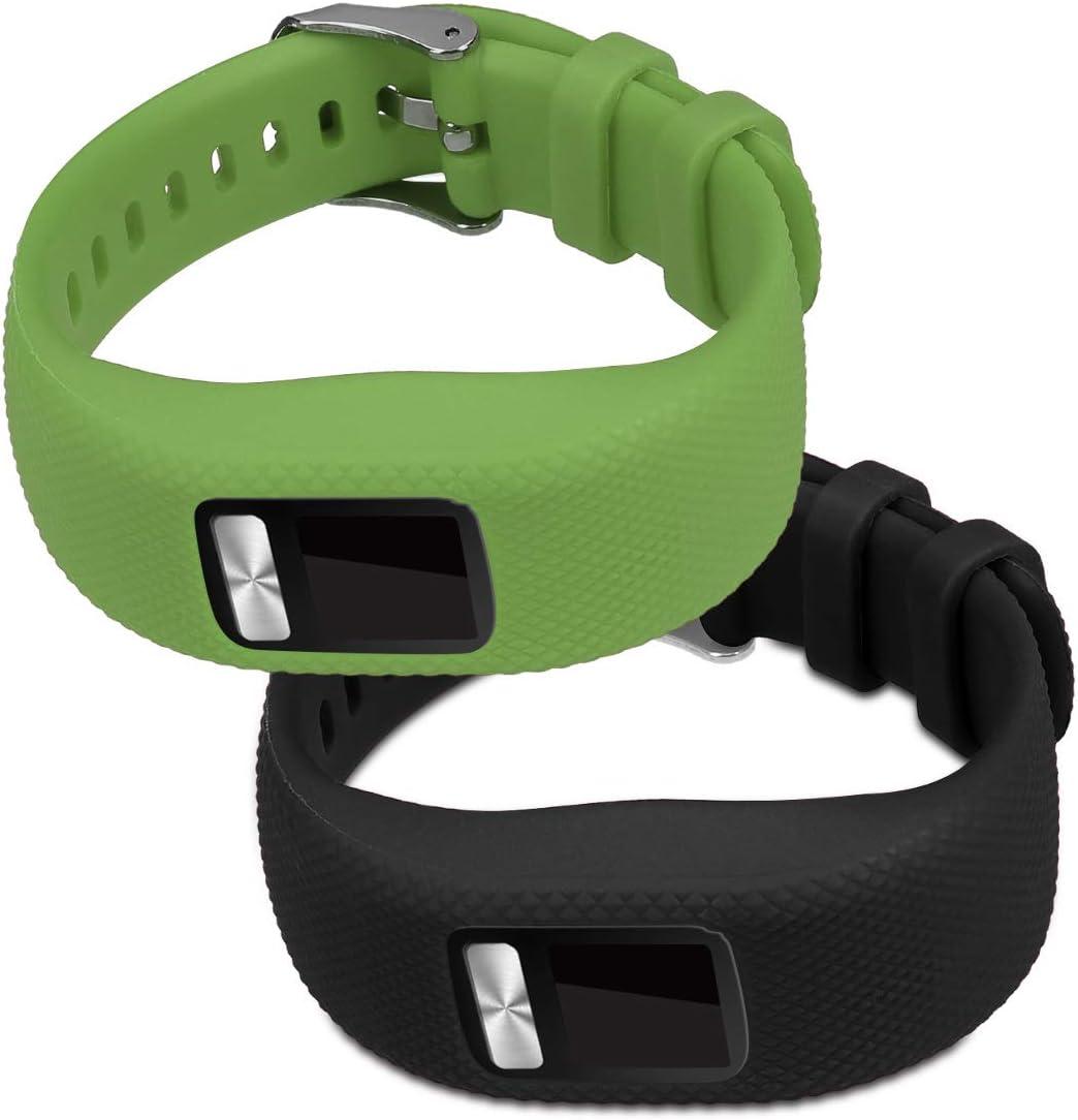 Brazalete de Silicona Azul Oscuro//Rojo sin Fitness Tracker kwmobile 2X Pulsera para Garmin Vivofit 4