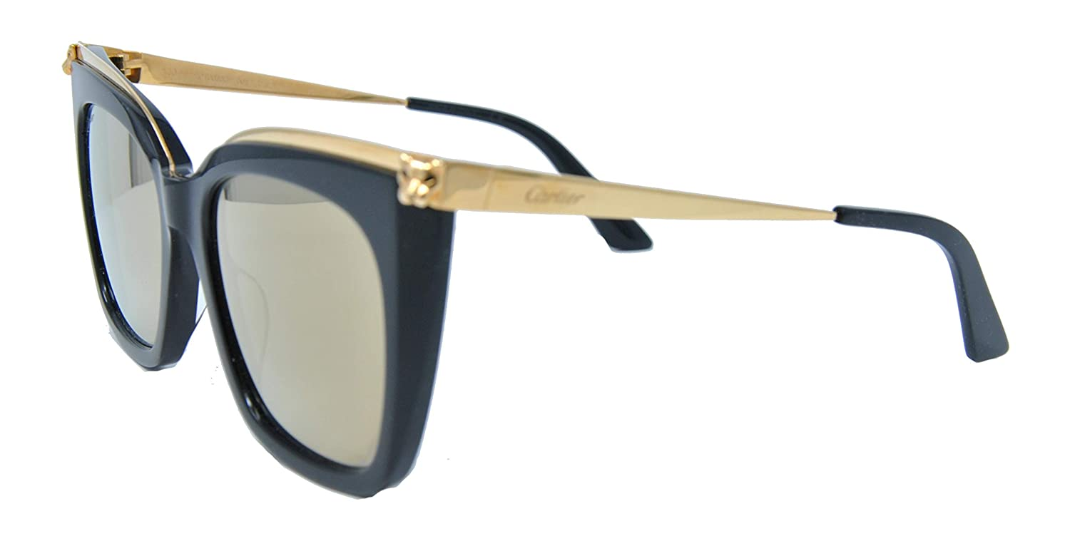 Gafas de Sol Cartier CT0030S GOLD/BROWN mujer: Amazon.es ...