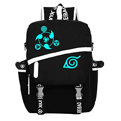 YOYOSHome Naruto Anime Uzumaki Naruto Cosplay Luminous Rucksack Backpack School Bag: Toys & Games