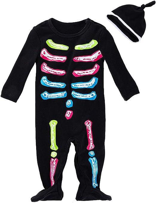 FANCYINN Bebes Disfraz de Halloween Mameluco Infantil con Diadema ...